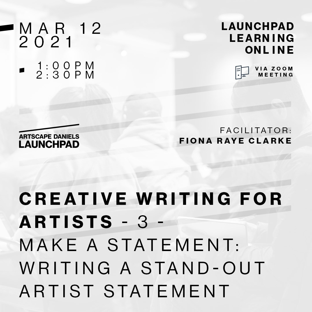 Creative Writing for Artists: Make A Statement: Writing A Stand-Out Artist Statement