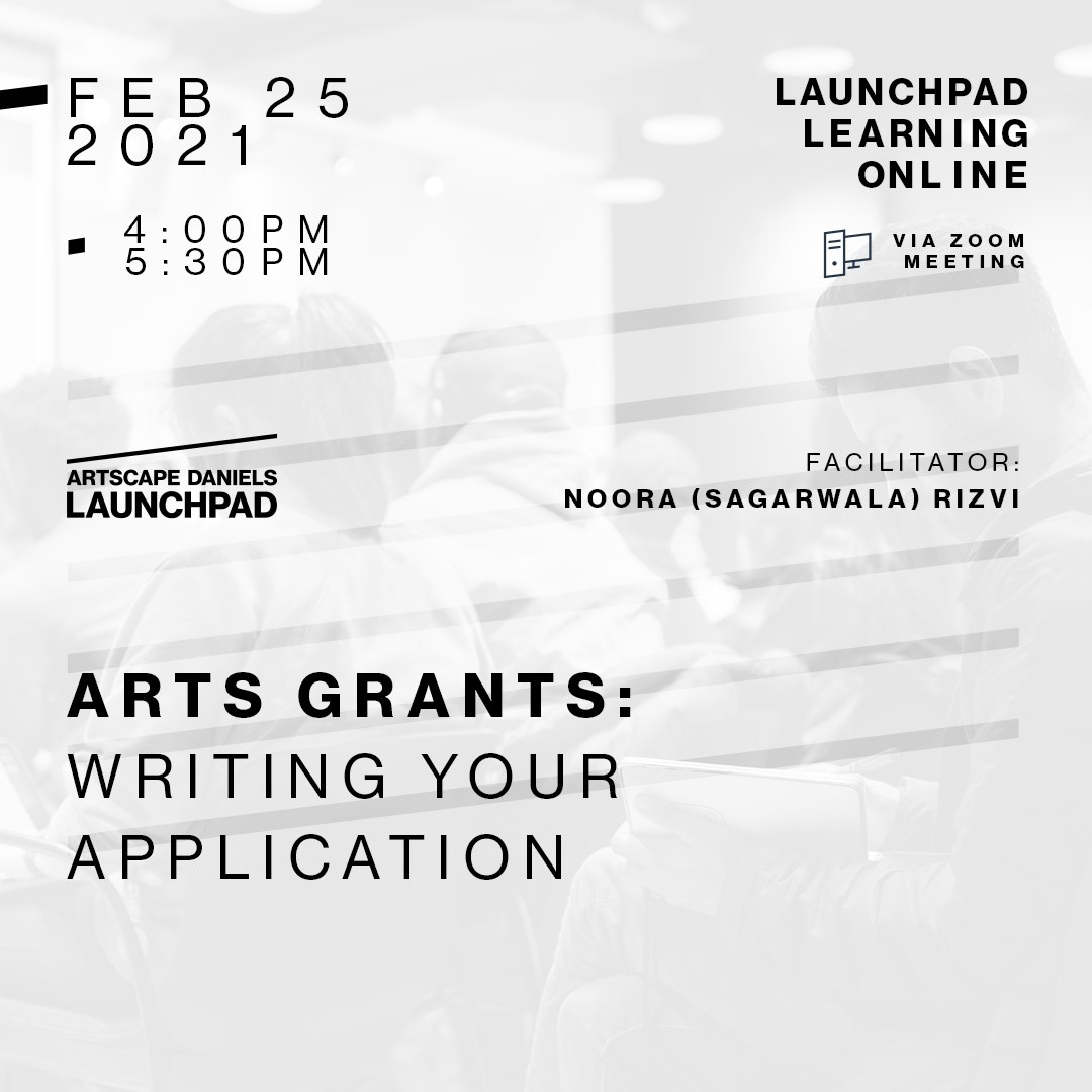 Arts Grants: Writing Your Application