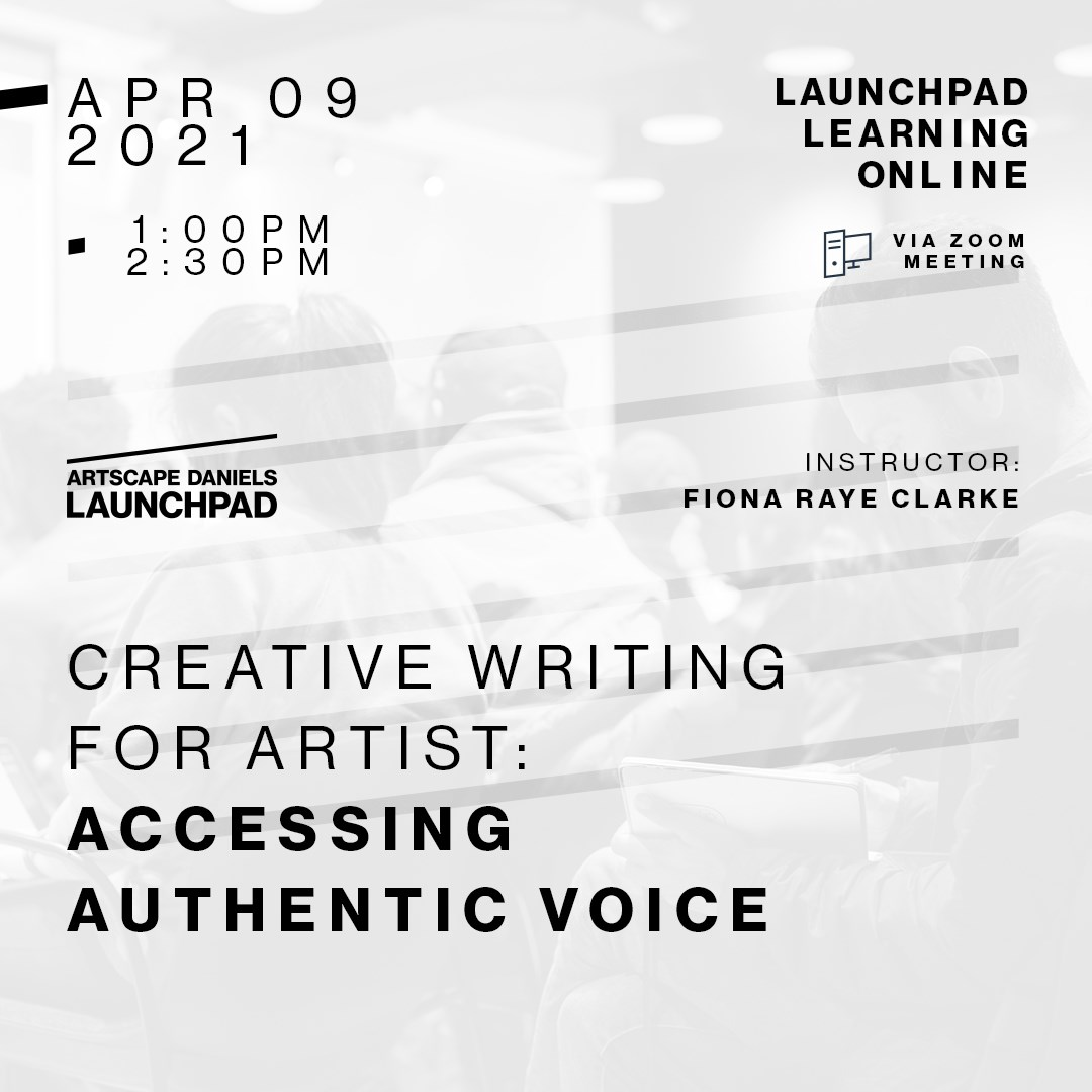 Creative Writing for Artists: Accessing Authentic Voice