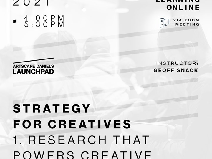 Strategy for Creatives - 1 - Research that powers creative